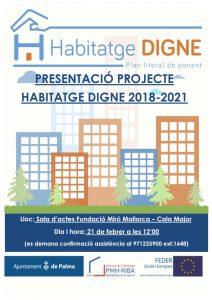 PRESENTACIÓ PROJECTE HABITATGE DIGNA 2018-2021